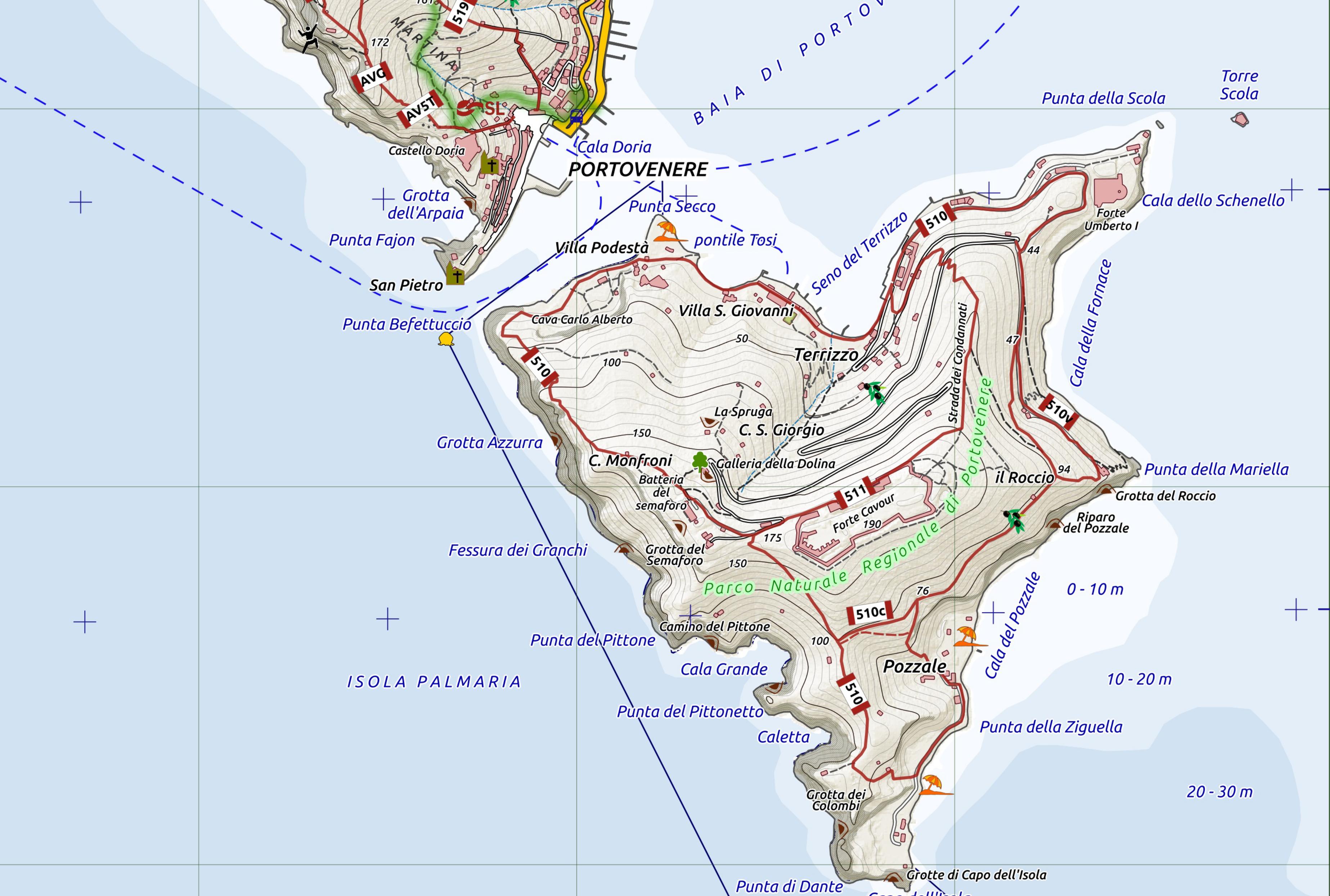 cartina palmaria